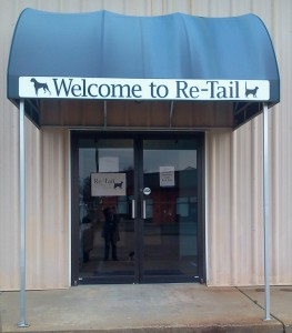 Re-Tail awning sign