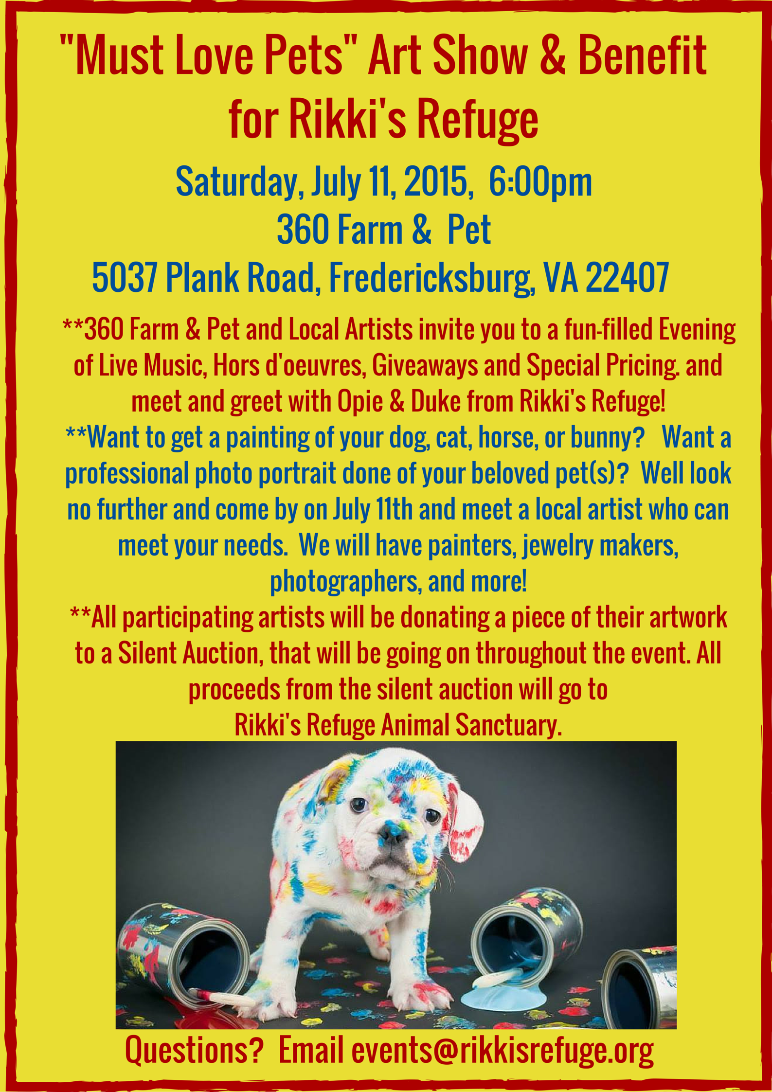 RIKKIS - Must Love Pets Art Show July 11, 2015