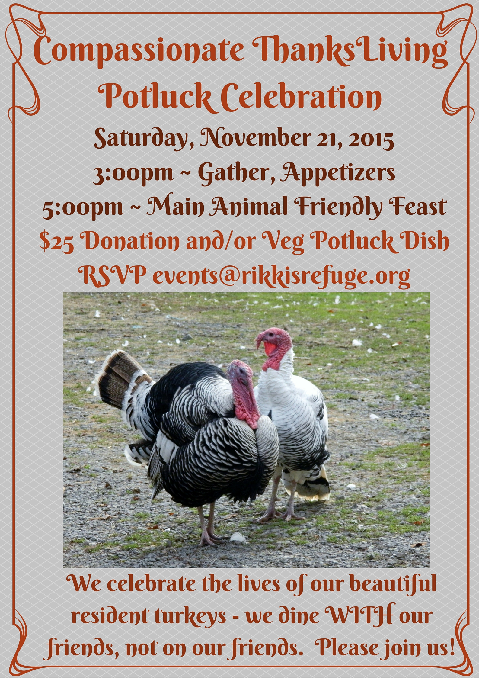 Compassionate ThanksLiving Potluck Celebration 2015